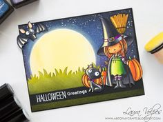 A bit of my crafts: Halloween 2017 Card Making Series - Moonlit Scene ...