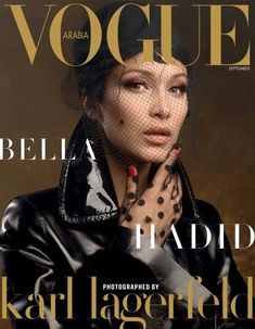 Bella Hadid lands on Vogue Arabia September 2017 Issue. For Arab cover shoot, Bella pose in a red dress from Fendi. Another English cover Vogue Magazine Covers, Fashion Magazine Cover, Fashion Cover, Vogue Covers, Bella Hadid, Gigi Hadid, Grace Elizabeth, Vanity Fair, Karl Lagerfeld