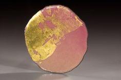 Rei Harada brooch  brooch  2007  copper, enamel, gold leaf