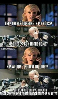 Guns scare people, but if you ever find yourself in a situation where an intruder is about to inflict harm or kidnap  you or your loved ones, you dont have time to waste, its common sense, pull out your gun, and STOP them.
