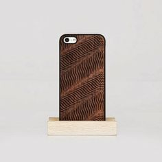 """Black Wawes"" iPhone wood case"