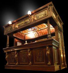 Canopy Pub Bars, Antique Bars, Antique Mantels, Antique Doors, Antique Pub Decor