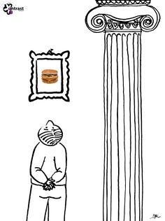 Muzealna makdonaldyzacja. / Museal mcdonaldization. http://issuu.com/miesiecznikkontrast/docs/kontrast_nr_42/56 Author: Joanna Krajewska