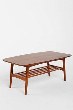 Carmela Coffee Table: Would be a good new coffee table with lower storage and no sharp corners.
