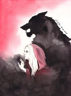 Ink & watercolour on watercolour paper A5 Reference: Joanne10byKuoma-stock Fairy Tales Series Tale: Red Riding Hood Character: Red (+Wolf in the background) Hi dear ink friends! Tod...