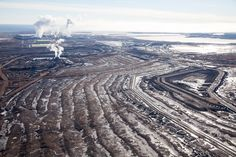 PHOTOS: New aerial pictures of Alberta tar sands mines show Scope of Eerie Destruction Sand Pictures, Oil Sands, Environmental Degradation, Big Oil, Environmental Design, Global Warming, Destruction, Ecology, Climate Change