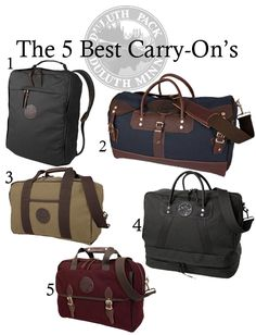 The 5 Best Carry On's | Duluth Pack #luggage #travel