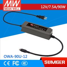 42.35$  Watch here - [MEAN WELL1] original OWA-90U-12 12V 7.5A meanwell OWA-90U 12V 90W Single Output Moistureproof Adaptor with lock type  #bestbuy