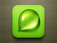 Leaf Icon  http://dribbble.com/shots/724480-Droplet-iOS