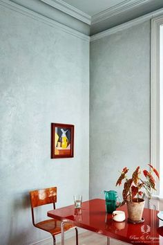 Photo gallery Marrakech Walls concrete look tadelakt effect - Inspiration Collection 2017 kitchen, Marrakech Walls, Classico and Traditional Paint in Polar Blue - Interior Exterior, Home Interior, Interior Architecture, Interior Decorating, Decoration Inspiration, Dining Room Inspiration, Interior Inspiration, Deco Design, Küchen Design