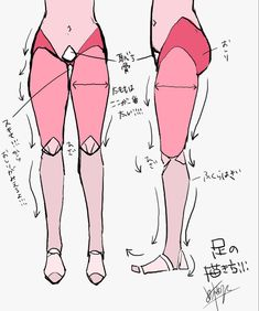 how to draw, body, original / 個人的な身体の描き方まとめ! - pixiv Leg Reference, Body Reference Drawing, Anatomy Reference, Art Reference Poses, Leg Anatomy, Anatomy Drawing, Anatomy Art, Drawing Practice, Drawing Lessons