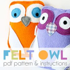 These cuddly owls make cheerful companions. They are ideal gifts for babies and toddlers as they have no buttons, small parts or adornments.Make a whole Parliament of Owls in a rainbow of colours with up-cycled blankets or knitwear.This pattern includes full size printable pattern templates, sewing instructions (with diagrams for the tricky bits), and handy directions for making your own felt from unwanted knitwear and old blankets. Recommended minimum skill level: confide...
