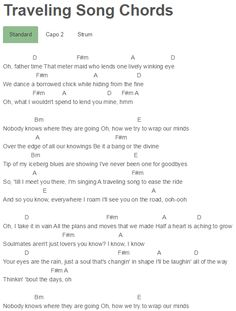 weaver traveling song lyrics