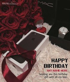 Iphone Personalized Birthday Gift for Friends. Impress your friend with this iphone personalized birthday gift on his birthday. Write his name with text wish on this gift image and send online.