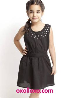 We believe only you know what best suits your princess. Visit #Oxolloxo to select from outfits which are intricately designed to keep your sunshine always shinning pretty. Click on http://www.oxolloxo.com/kids/girls/toddlers-2-4-yrs/dresses.html to explore more.  #kidsfashion #black #embellished #dress #littlegirls #global