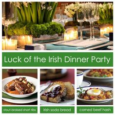 dinner party ideas for st. patricks day