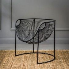 Treat your interior to some statement contemporary style. Fashion N You by Horizon Interseas New York Papasan Chair beholds curvaceous allure within its durable iron frame and would look great with a cushion for simple styling. Metal Chairs, Cool Chairs, Bar Chairs, Dining Chairs, Rattan Chairs, Wooden Chairs, Office Chairs, Ikea Chair, Diy Chair