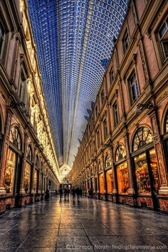 Corridor in a mall, Brussels,Belgium by Laurence Norah