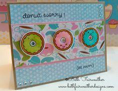 Lawn Fawn Donut Worry Card