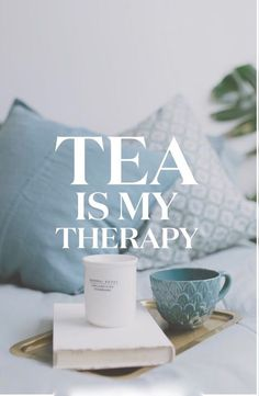 tea-is-my-therapy From day one, tea has had a soothing effect on me. I wanted to share a little with you, how I integrate tea into my day and show you how tea is my therapy. Tea Lover Quotes, Tea Quotes, Qoutes, Vintage Tea, Chai, Tea Puns, Tea And Books, Cuppa Tea, Tea Art