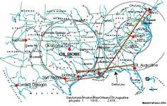 Magnetic Ley Lines in America | Ley Lines, good sources of info and detailed map of where they fall in ...