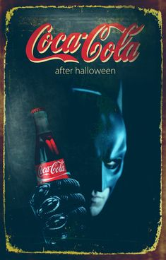 Halloween theme Coca Cola posters by Zoki Cardula, via Behance