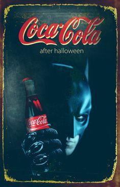 Halloween theme Coca Cola posters by Zoki Cardula, via Behance