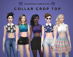 salem2342: Collar Crop Top (TS4)standalone10 colorsmesh edited by meDOWNLOAD