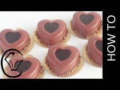 Valentine Red Velvet Chocolate Mousse Hearts with Ganache Insert by Cupcake Savvy's Kitchen - YouTube