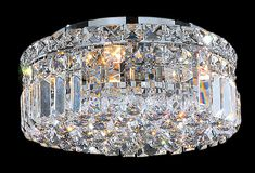 Abbott Flush Mount Crystal Ceiling Light