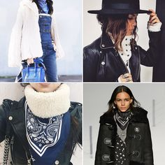 Bandanna Neck Scarf Trend   the vintage scarves I sell are perfect worn this way too