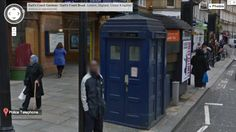 Google Maps: If you search for Earl's Court Road, one of the locations of an actual, blue police call box in London, you can enter the TARDIS control room. Check it out for yourself: click on the double arrow pointing up toward the TARDIS.