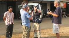 Svay Pak,Cambodia    Filming interview with Don Brewster of Agape International Missions.