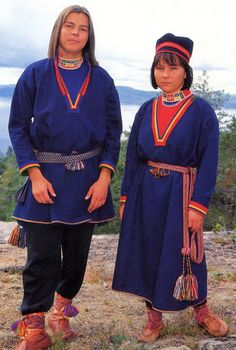 A Lule Saami couple from Tysfjord Norway.