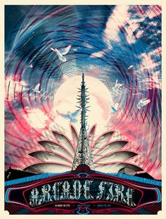 Arcade Fire-some of the most beautiful posters I've seen #design #graphicdesign