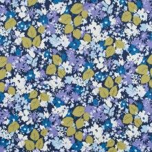 Patriot+Blue,+Green+Moss+and+Chalk+Violet+Floral+Stretch+Cotton+Sateen