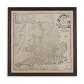 Found it at Wayfair - Road Map of England and Wales Framed Photographic Print