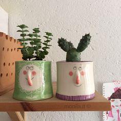 Monila , Monila handmade , ceramica ,vaso , piante grasse