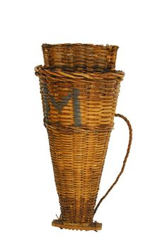 Tall French Grape Harvest Basket Hotte