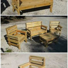 Complete Garden Set Made Out Of Repurposed Pallets