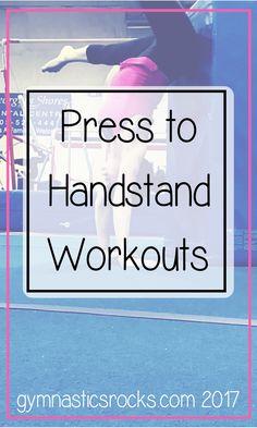 Gymnastics at Home: Press Handstand Conditioning Workouts – Gymnastics Rocks! Crossfit Workouts For Beginners, Crossfit Workouts At Home, Strength Training Workouts, Toning Workouts, Exercises, Gymnastics At Home, Gymnastics Training, Gymnastics Workout, Gymnastics Conditioning