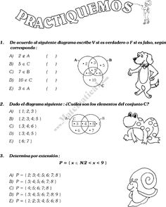 Ejercicios con teoría de conjuntos.