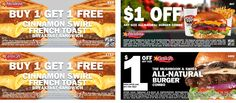 Pinned August 29th: Second cinnamon french toast sandwich free at #Hardees & Carls Jr #coupon via The #Coupons App