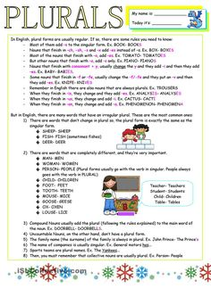 Plurals Worksheets, 5th Grade Worksheets, Homeschool Worksheets, English Grammar Worksheets, Printable Worksheets, Kindergarten Worksheets, Simple Present Tense, Simple Past Tense, Common And Proper Nouns