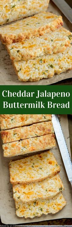 Add a buttermilk twist to a classic quick bread with this an easy recipe for extra-moist cheddar jalapeno buttermilk bread. via @introvertbaker