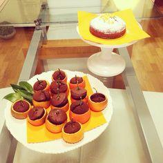 Chocolate muffins in mandarins!
