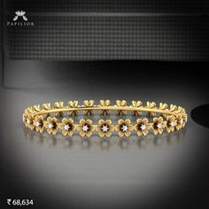 """Let's spread the message of peace and happiness with the color's of holi. Plain Gold Bangles, Gold Bangles Design, Gold Jewellery Design, Silver Bangles, Gold Jewelry, Diamond Jewelry, Diamond Necklace Set, Diamond Bracelets, Bracelet Or"