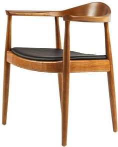 Design dining room chair Kennedy chair Leather Walnut