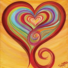 Easy Canvas Painting hearts | Labyrinth of Love - Everyday is Valentine's Day at Debbie Marie's ...