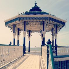 Hove bandstand with the West Pier, Brighton in the background: The bandstand is known locally as the 'birdcage'. Completed in it was designed by Phillip Lockwood and is considered to be one of the best surviving Victorian examples in the UK today. Camping Survival, Outdoor Survival, Camping Hacks, Survival Guide, Female Urinal, Uk Today, Brighton And Hove, East Sussex, Wilderness